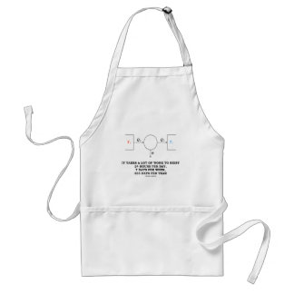 It Takes A Lot Of Work To Exist (Thermodynamics) Standard Apron