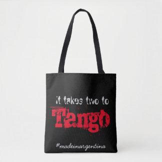 It takes two to tango tote bag