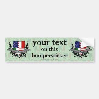 Italian-American Shield Flag Bumper Sticker