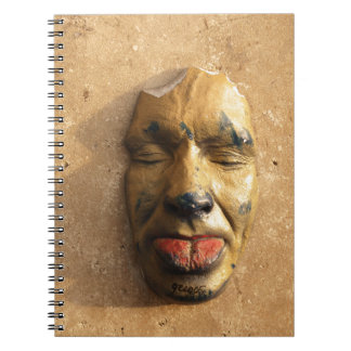 Italian Art Face Photo Sticking Out Tongue Notebook