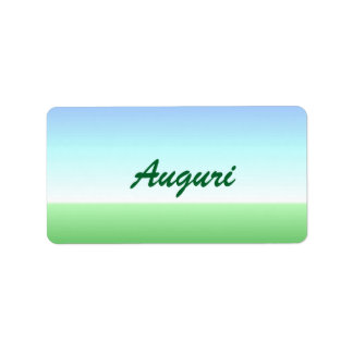 Italian Auguri Green Blue Label