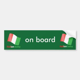 Italian baby bumper sticker