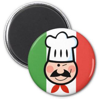 Italian Chef 6 Cm Round Magnet