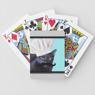 Italian Chef, Black Cat Bicycle Playing Cards