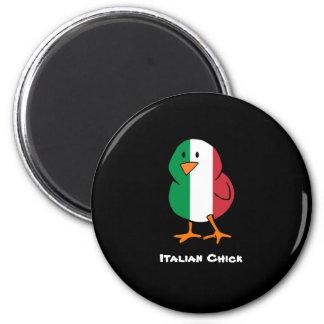 Italian Chick 6 Cm Round Magnet