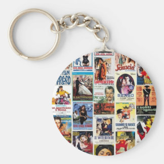 Italian cinema basic round button key ring