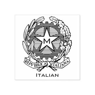 Italian Coat of Arms Personalize Rubber Stamp