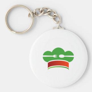 Italian cuisine basic round button key ring