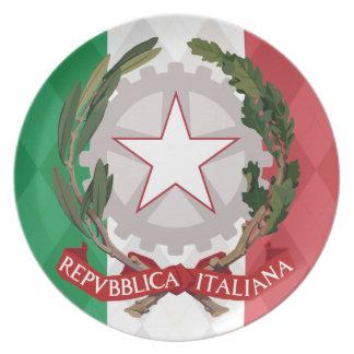 Italian Flag Coat of Arms Argyle Dinner Display Pl Plate