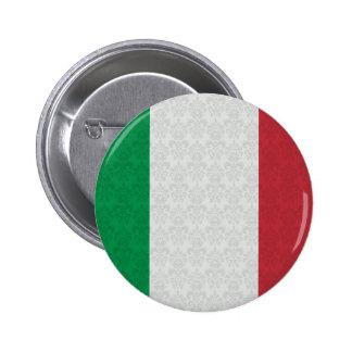 Italian Flag Damask Pattern 6 Cm Round Badge