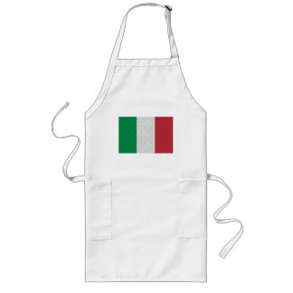 Italian Flag Damask Pattern Long Apron