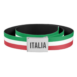 Italian flag with custom monogram - Italy pride Belt