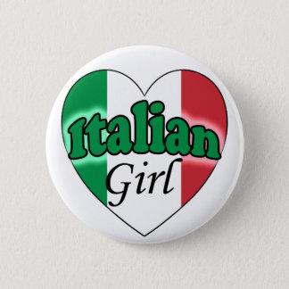 Italian Girl 6 Cm Round Badge