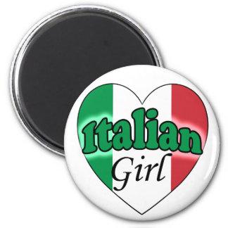 Italian Girl 6 Cm Round Magnet