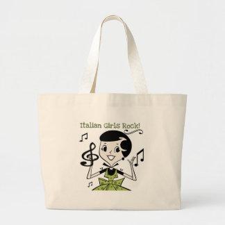 Italian Girls Rock Large Tote Bag