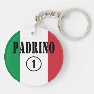 Italian Godfathers : Padrino Numero Uno Double-Sided Round Acrylic Key Ring