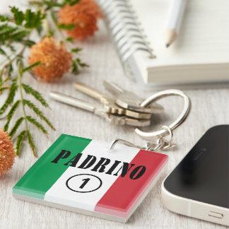 Italian Godfathers : Padrino Numero Uno Single-Sided Square Acrylic Key Ring