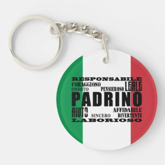 Italian Godfathers : Qualities Single-Sided Round Acrylic Key Ring