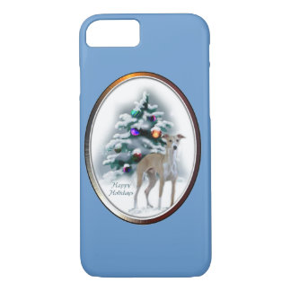 Italian Greyhound Christmas iPhone 8/7 Case
