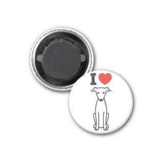 Italian Greyhound Dog Cartoon 3 Cm Round Magnet