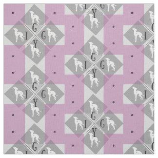 Italian Greyhound Dog  Diamond Joann Fabric Iggy