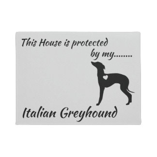 Italian Greyhound Dog Door Mat. Doormat
