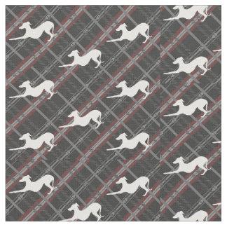Italian Greyhound Dog Tartan Hound Iggy Fabric