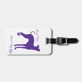 Italian Greyhound Luggage Tag