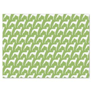 Italian Greyhound Silhouettes Pattern Tissue Paper