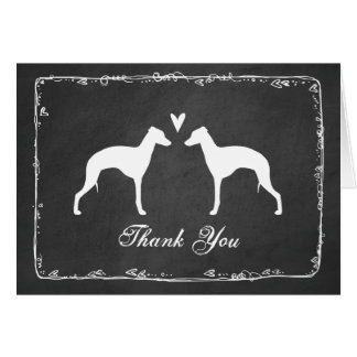 Italian Greyhound Silhouettes Wedding Thank You Card