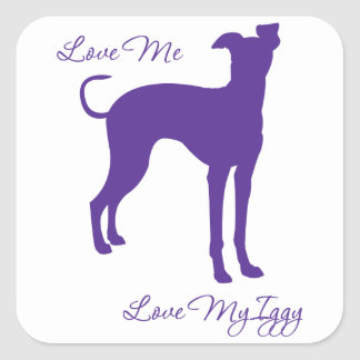 Italian Greyhound Square Sticker