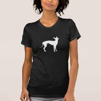 Italian Greyhound White on Black T-Shirt