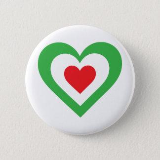 Italian Heart 6 Cm Round Badge