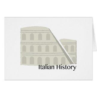Italian History Card