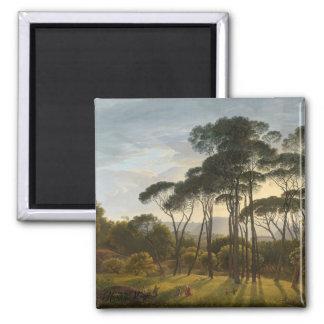 Italian Landscape with Umbrella Pines Magnet