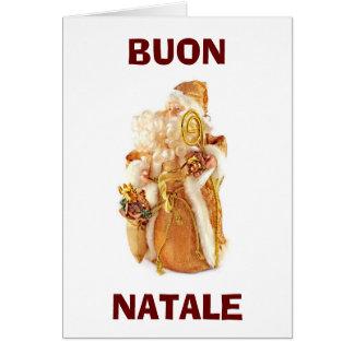 "ITALIAN SANTA SAY ""BUON NATALE"" EATDRINKBEMERRY CARD"
