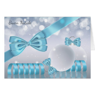 Italian - Stylish Christmas Greeting Card Ornament