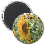 Italian Sunflower 6 Cm Round Magnet
