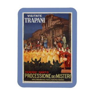 Italian travel Christian Easter procession Trapani Magnet