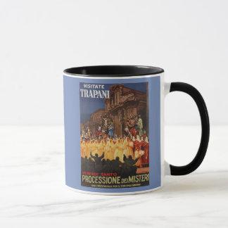 Italian travel Christian Easter procession Trapani Mug
