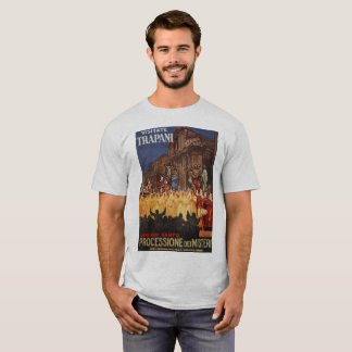 Italian travel Christian Easter procession Trapani T-Shirt