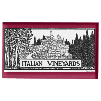 Italian Vineyards - 1919 design by M. Campion Table Card Holder