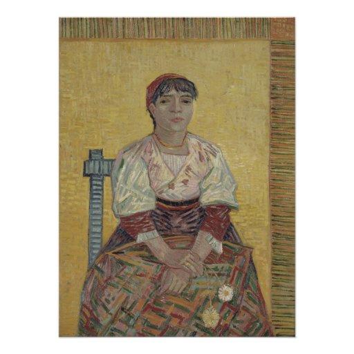Italian Woman by Vincent Van Gogh Photo Print
