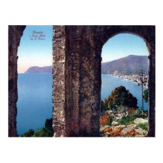 Italy,  Alassio, View of the Mediterranean Postcard