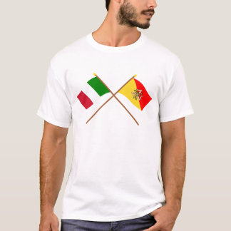 Italy and Sicilia crossed flags T-Shirt
