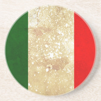 Italy Flag in Grunge Coaster