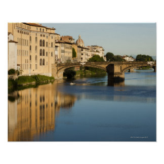 Italy, Florence, Bridge over River Arno Poster