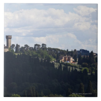 Italy, Florence, Castle on hilltop 2 Tile