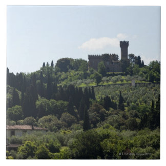 Italy, Florence, Castle on hilltop Tile