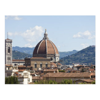 Italy, Florence, Cityscape with Duomo Postcard
